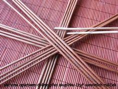 Moje pletení z papíru - Fotoalbum - Návody - Návod na vyplétané dno - dvojitý kříž