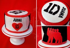 one direction torta detalles