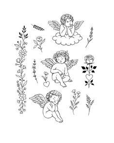 Dainty Tattoos, Pretty Tattoos, Mini Tattoos, Flower Tattoos, Body Art Tattoos, Small Tattoos, Tatoos, White Tattoos, Cat Tattoos