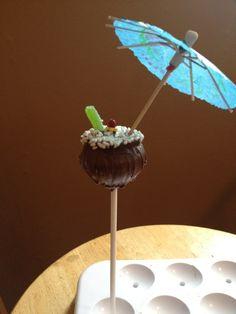 coconut pina colada cakepop