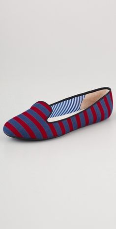 Charles Philip striped flats