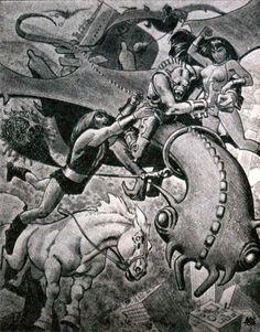 "sorcerersskull: ""Art by Alex Toth """