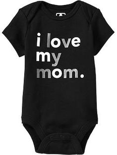 """""""I Love My..."""" Graphic Bodysuits for Baby 