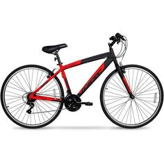 700c Hyper SpinFit Men's Hybrid Bike, Red - Walmart.com