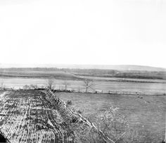 """Another 1882 view of the field of Pickett's Charge, showing the ground Pettigrew's and Trimble's brigades advanced over. The point known as """"The Angle"""" is in the foreground. Historical Monuments, Historical Photos, Pickett's Charge, Gettysburg National Military Park, Gettysburg Battlefield, American Revolutionary War, America Civil War, Civil War Photos, Historical Society"""