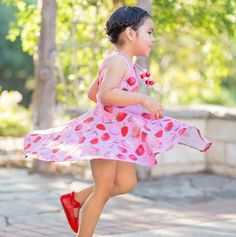 Cheeky Banana Little Girls Chevron swing top /& ruffle leggings Multi//Pink