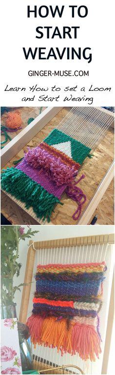 How to Start Weaving, Learn how to set a loom, beginners weaving tutorial, #weave #weaving #tapestry #tutorial #creativity