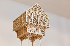 Studio Weave Paleys upon Pilers model , Architectural Sculpture, Architectural Models, Studio Weave, Design Museum, Space Crafts, Little Houses, Chandelier, Ceiling Lights, Architecture