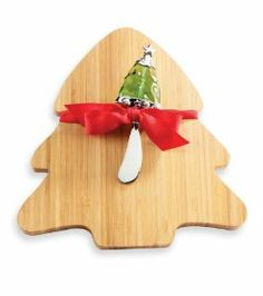 7d419f9617033 Mud Pie Christmas Tree Board With Glass Spreader. More in stock at Seasons  by Design