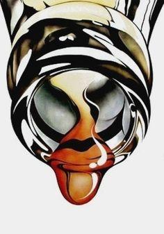 Michael English airbrushed art illustration