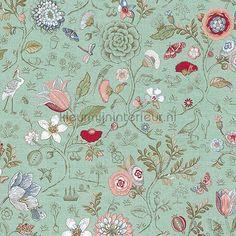 PiP Spring to Life Green behang 375002 uit de collectie Pip Wallpaper IV van Eijffinger ontdek je bij kleurmijninterieur