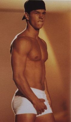 Marky Mark AND his funky bunch.....Sorry all. Got side track with this photo trying to see his legs. Goodness...