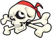 Joley skull and bones — Stock Vector