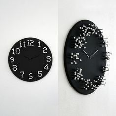 when standing in front of the 'mocap wall clock' by j.p. meulendijks, its numbers are clear and visible, but walk around it and you'll notice that they slowly dissolve, falling apart in a vague white fuzz