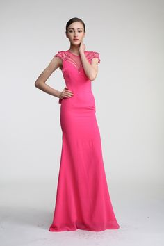 Mulan wedding  sexy Fuchsia women a-line long prom dresses ,2015 summer Silk jewel Backless evening dresses gowns for party JUST $62Free Shipping