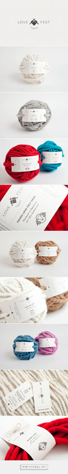 Love Fest Fibers on Behance by Menta Guadalajara, Mexico curated by Packaging Di. Love Fest Fibers on Behance by Menta Guadalajara, Mexico curated by Packaging Diva PD. If you are a yarn lover you'll love this simple tags and label packaging. Logo Design, Graphic Design Branding, Label Design, Identity Design, Logo Branding, Print Design, Visual Identity, Package Design, Brand Identity