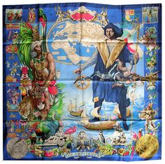 """Les Ameriques (from <a href=""""http://piwigo.hermesscarf.com/picture?/4284/category/Home"""">HSCI Hermes Scarf Photo Catalogue</a>)"""
