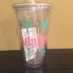 Custom acrylic tumbler personaized cup by ArtisticallySo on Etsy