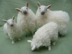 Scottish Mountain Cheviot Family by Colinscreatures on Etsy, $170.00