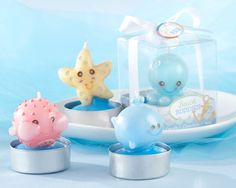 cute beach buddies baby shower favor candles as low as $7.64