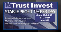 Bitcoin FORUM: Trust Invest investment REVIEW