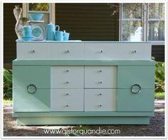 Image result for retro paint jobs for dresser