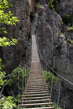 The Via Ferrata, Nelson Rocks, WV...uh, no thanks.  I will hike the 50 miles back