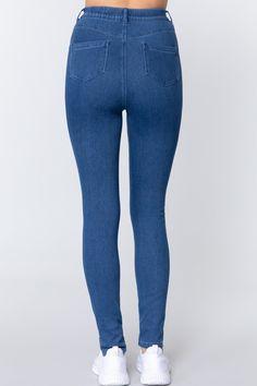 Knit Denim Jeggings   KjSelections Jeggings, Sexy Jeans, Skinny Jeans, Jean Sexy, Dress Making, Spandex, Denim, Knitting, Polyester