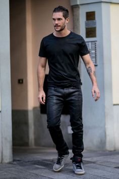 Waxed Cotton Jeans.... seen on the street