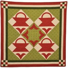 Debby Kratovil Quilts: Red & Green Antique Quilts