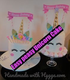 Unicorn cake fit for a Birthday Princess – Handmade with Hygge