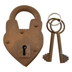 This padlock is perfect as a replacement on an antique trunk or reproduction item. The v-shaped design and rustic iron finish will add flair to any antique piece. Cabin Doors, Wood Barn Door, Strap Hinges, Swinging Doors, Door Accessories, Knobs And Handles, Barn Door Hardware, Exterior Doors, Old Antiques