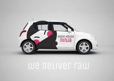 Covering voiture de livraison Sushi House Ninja - Behance