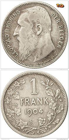 N♡T. Belgique, Franc, 1904, TB, Argent, KM:57.1