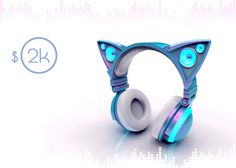 OMG that is so beautiful~~ Axent Wear Cat Ear Headphones   Indiegogo