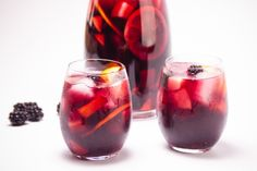 So colorful & refreshing on a hot summer day ~ Simple Summer Red Wine Sangria