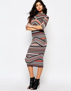 Modest Striped Dress