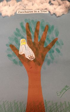Zacchaeus in a tree.
