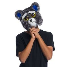 Send your trick-or-treater out in a surprising Feisty Pets™ mask. Based on the deceivingly sweet stuffed dog, this Sammy Suckerpunch movable jaw mask . Halloween Fancy Dress, Adult Halloween, Halloween Cosplay, Halloween Masks, Family Halloween, Sucker Punch, Animal Costumes For Adults, Sammy, Halloween Costume Accessories