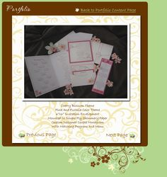 La Design Boutique - Pink and Brown Cherry Blossom Themed Wedding Invitations