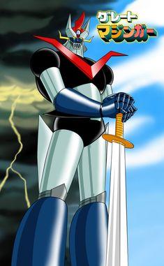 Grande Mazinga - Great Mazinger Anime / Manga robot Fanart by (Cristian Giuseppone) Big Robots, Cool Robots, Sci Fi Comics, Anime Comics, Anime Mech, Combattler V, Gundam, Manga Anime, Z Movie