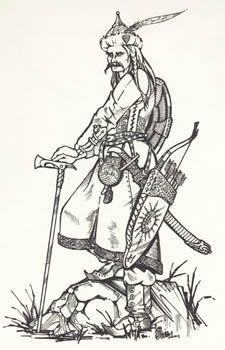 attila the hun coloring page | Attila király katonája