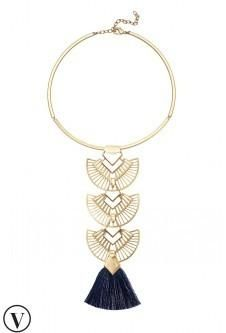 Aida Tassel Pendant Necklace - Amazingly versatile piece!! Can be worn 6 different ways!!