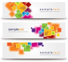 Abstract Minimalist Banners Vector Graphic
