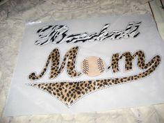 Diy Heat Transfer of Zebra & Leopard Baseball Mom by cthorses66, $11.99