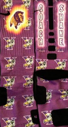 Authentic Nike Elite Custom socks by Coach Shane #ysibraves #football4life #football #thankyou #thesickestsocks #teamsicksocks #lookgood #playgood #babybarry #23kid @mrmotivation20
