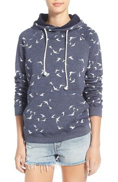 Element 'Lenox' Floral Print Fleece Hoodie available at #Nordstrom