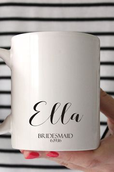 Please send the name and date you would like on your mug in a convo or note to seller! Congrats and Thank you!  -Material: 100% White Ceramic -Size: 11 Fluid oz. -Care: Dishwasher + Microwave Safe  CHRISTMAS ORDERS ( NOT RUSHED) MUST BE ORDERED BY FRIDAY DECEMBER 9TH!!  RUSH ORDERS FOR $20 AND YOUR ORDER SHIPS IN 2 BUSINESS DAYS PRIORY MAIL. LAST DAY FOR RUSH ORDERS IS DECEMBER 17TH! HAPPY HOLIDAYS !  ALL MUGS ARE HAND MADE TO ORDER NO REFUNDS OR RETURNS SORRY