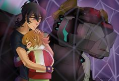 Keith comforts Pidge at the loss of Shiro the Paladin of the Black Lion from Voltron Legendary Defender Form Voltron, Voltron Ships, Voltron Klance, Silly Pictures, Impatience, Black Lion, Voltron Fanart, Manga, Anime