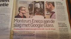 Monteurs Enenco aan de slag met Google Glass. Algemeen Dagblad 30 mei 2014